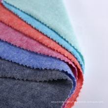 Fashion textiles fleece rayon nylon polyester hacci tela knit brushed fabric