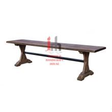 Table console en bois inachevée