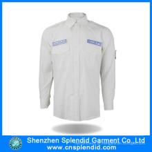 Camisas piloto por atacado do aviador do Workwear 100% do algodão de China