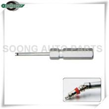 Nueva herramienta de extracción de núcleo de válvula de herramienta de núcleo de válvula de mango de aluminio