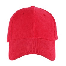 Wholesale blank 6 panel corduroy baseball caps and hats