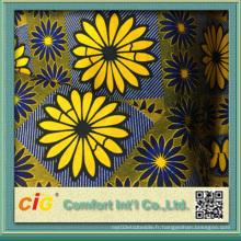 Vente en gros Tissus imprimés en cire Ankara Imprimer Tissu africain en cire superbe Tissu en batik 100% coton