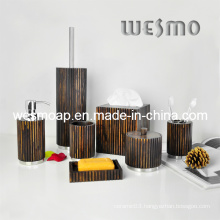 Rubber Wood Bath Accessories (WBW0614A)