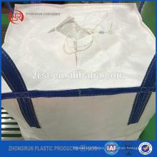 Bolsos de alimentación animal de 500 kg de categoría alimenticia, bolsa jumbo plana de fondo abierto superior tratado con UV