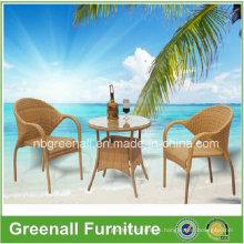Cafe Chair Muebles de mimbre para exterior de mimbre