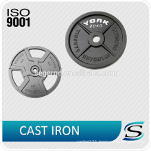 Custom weightlifting plate made of cast iron