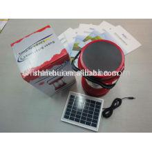 Con función de emergencia linterna solar de alta calidad linterna llevada camping con radio