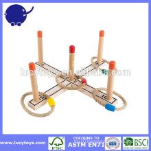 wooden game backyard ring toss set