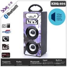 Karaoke-Funktion eingebaute Batterie 1200mAh LED-Bildschirm drahtlose Bluetooth Auto Lautsprecher