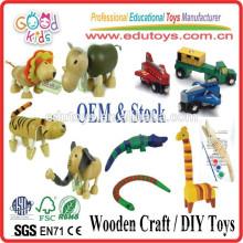 Jouets en marbrure colorés Jouets en bois pour enfants