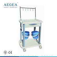 AG-IT001B3 Fournisseur abs iv traitement médical hôpital chariot à linge avec tiroir