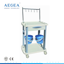 AG-IT001B3 Supplier abs iv treatment medical hospital laundry trolley with drawer