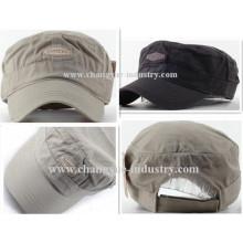 Venta caliente lona algodón buena calidad mens gorra militar