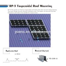 Trapezoid Metal Roof Solar Panel Mounting Rack