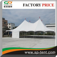 Factory direct-sale big size four high peak galvanized steel frame used center pole tent 40 feet x 80 feet