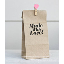 Custom Printed Square Bottom Kraft Paper Bag for Food