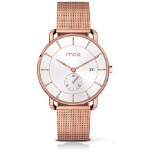 Le plus récent Relojes Hombre Full Grain Cuir Sangle Mâle Montre à Quartz