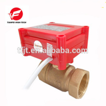 CWX-20P 1.0B DN15 brass Female-female BSP DC12V CR05 5 wire with signal feedback 2 way Electric Valve for water