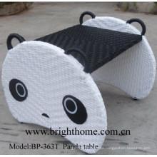 Muebles para niños Panda Mesa Muebles de mimbre tejidos a mano Bp-363