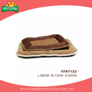 Lit en peluche chaud pour chien, coussin pour animaux de compagnie (YF87123)