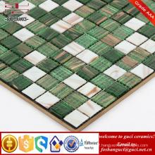 China supply cheap products green mixed Hot - melt mosaic wall tiles