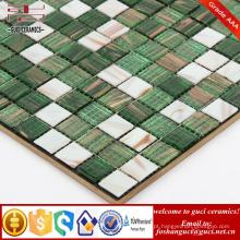 China fornecer produtos baratos verde misturado Hot-derreter telhas da parede do mosaico