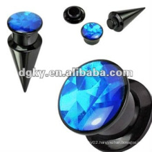 Ear tunnel jewelry body piercing Acrylic ear screw