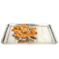hot selling wholesale kitchen outdoor metal stainless steel heat-resistant cake biscuit cooling rack barbecue cooling rack