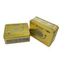 Goldfarben-Zinn-Kasten-Verpackungs-Keks-Plätzchen