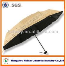 21'' * 8 K bon marché 3 pliage parapluie coréen impression Logo