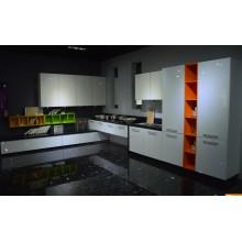 Gabinetes modernos de cocina de madera brillante de la pintura de la laca con muchos colores a elegir (MOQ 1 sistema)