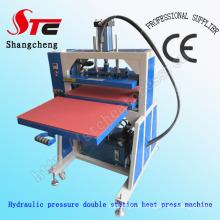 Vente chaude pression hydraulique machine de presse de la chaleur T-shirt Machine d'impression de chaleur grand format pression hydraulique Machine de transfert de chaleur Stc-Yy01