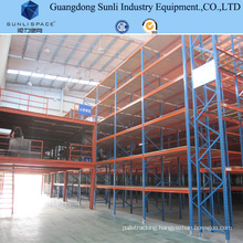 Industrial Steel Panel Storage Rack Mezzanine with SGS/ISO for Warehouse
