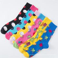 Fashion Cartoon Crew Leisure Pack Men Happy Teen Tube Socks