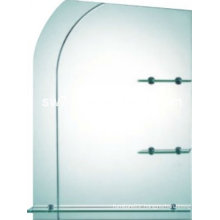 2013 simple and naturalistic bathroom mirror with glass shelf