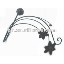 Chinese aluminum flower curtain wall tieback hook for home decoration