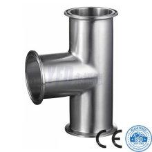 Acessórios para tubos sanitários 304 316L Stainless Steel Equal Tee
