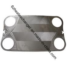 Placa y junta de reemplazo de vicarb para intercambiador de calor