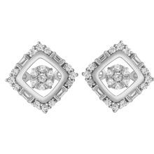 Einfache Design 925 Silber Tanzen Diamant Ohrstecker Schmuck