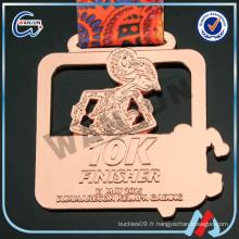 Médailles en bronze 10k finisher bangkok