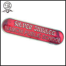 Transparent painting School pin badge