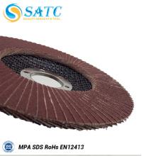 T29 4.5 '' Flap tipo de disco abrasivo Flap roda Alemanha matérias-primas China fábrica