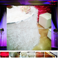 Various fabric for table skirting designs                                                                         Quality Choice