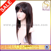 For Black Girl Sexy Indian Hand Made Human Virgin Remy Hair Full Lace Wigs