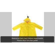 Günstige PVC Mädchen Logo Mädchen transparente Regenbekleidung für Kinder Schultasche Poncho Jungen Einweg Regenmantel EVA Regenmäntel für Kinder