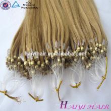Factory Remy Virgin Human Hair 20 Inch Malaysian Micro Bead Human Hair Extensions