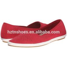 Mulher sapatos de lona baratos China Fábrica de sapatos de lona por atacado