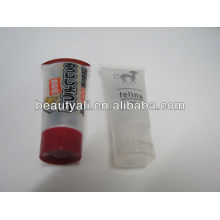 white flip top cap metal cosmetic packaging tubes