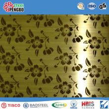 Color Coated Decorative Stainless Steel Sheet with SGS Ios