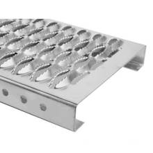 Industrial Steel Bar Grating Outdoor Crocodile Mouth Perforated Metal Steel Grating for Stair Tread